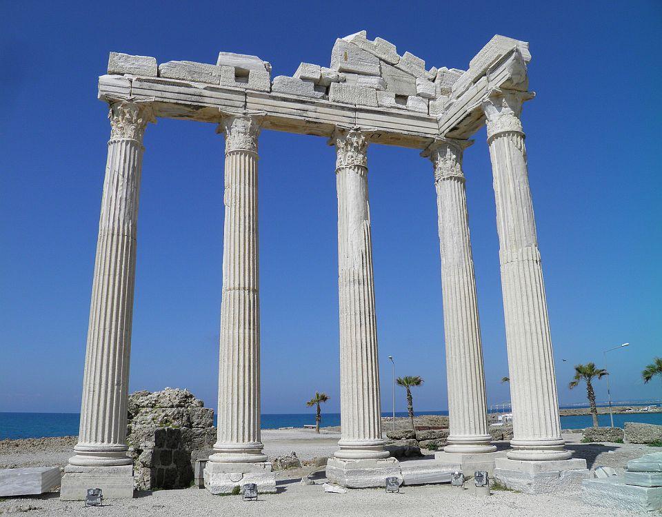 Tempel of Apollo in Side Turkey by Carole Raddato