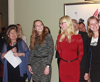 Karin Elgin-Nijhuis and Saxion UAS students