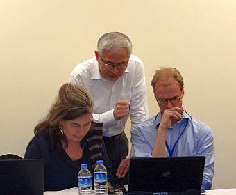 Karin Elgin-Nijhuis, Frank Go and Erik van 't Klooster at HTHIC2014